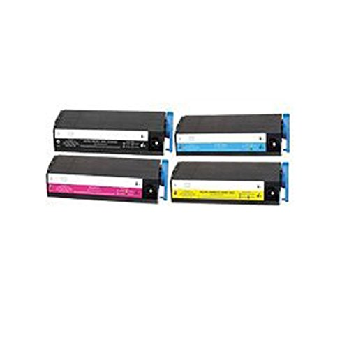 Series Printers C7500 (Compatible Okidata Toner for OkiColor C7100, C7300, C7500 Series - 41963004 41963003 41963002 41963001 (Black Cyan Magenta Yellow) 10K - 1Set)