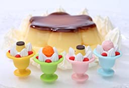 Fruit Parfait Cup Japanese Dessert Erasers. 4 Pack. Assorted Colors. By PencilThings