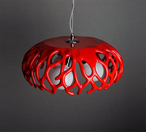 Coral Pendant chandelier,Led Hanging lighting fixtures Ceiling light fixture Resin Modern Personality Vintage Decoration Single head Shop Bar Aisle Restaurant lights For e27 (Red Coral Chandelier)