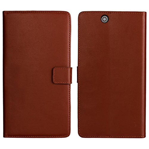 PIZU Leather Case Flip Cover for Sony Xperia Z Ultra XL39h C6802 C6806 C6833/Brown