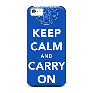 Premium Chelsea Keep Calm Back Cover Snap On Case For Iphone 5c