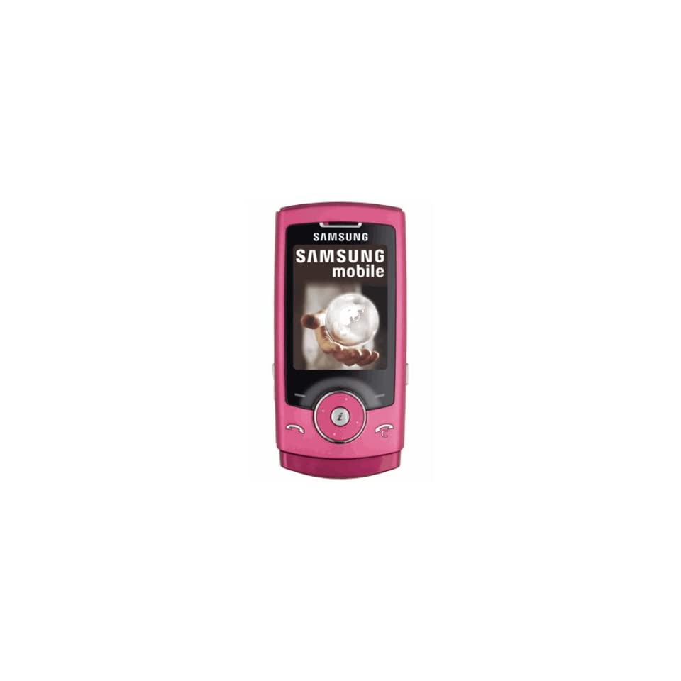Samsung SGH U600 Unlocked Phone with 3.2 MP Camera, Media Player, and MicroSD Slot  International Version with No Warranty (Pink)