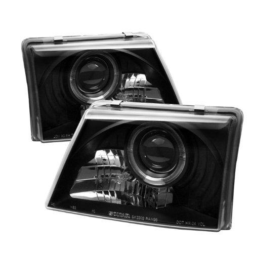 Spyder Auto Ford Ranger Black Halogen Projector Headlight