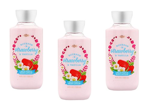 Mandarin Vanilla Body Lotion - Lot of 3 Bath and Body Works Lotion Bourbon Strawberry Vanilla 8 Ounce Full SIze Retired Fragrance
