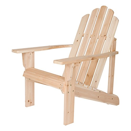 Shine Company Marina Adirondack Chair, Natural