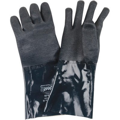 SHOWA Best Glove X-Large 14'' Ultraflex II Neoprene Chemical Resistant Gloves With Rough Finish And Gauntlet Cuff