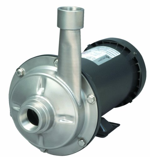 AMT Pump 5533-98 High Head Straight Centrifugal Pump, Stainless Steel, 3 HP, 3 Phase, 230/460V, Curve I, 1-1/2