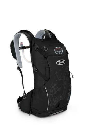 Osprey Zealot 16 Hydration Pack, Pitch Black, Small/Medium, Outdoor Stuffs