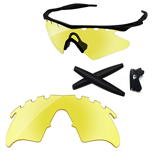 PapaViva Replacement Lenses & Rubber Kits for Oakley M Frame Heater Vented Crystal Yellow -
