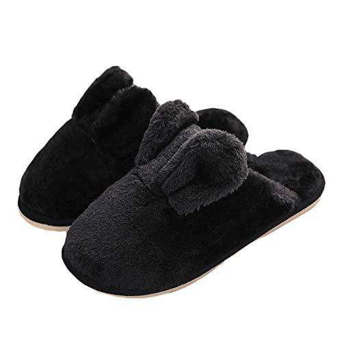 Paire Chaussons Femme Monbedos Size Pantoufles 1 38 Automne Hiver Negro rosa Peluche 37 Coton Chaudes 38 37 BwRRx5qEn