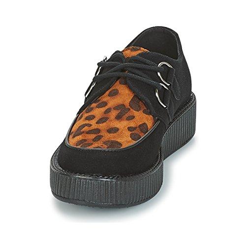 Vamp Animal Microfibra U con La Negro K Enredadera Leopardo Y Print Viva Bajo Negro T Shoes de Z8x4Tw1q1
