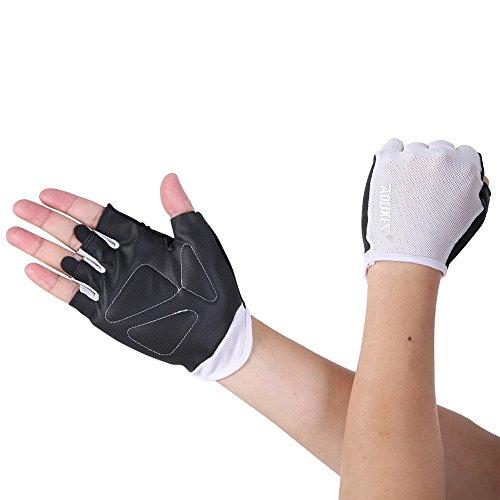 Riiya Non-slip Bike Gloves Breathable Half Finger Gloves for Cycling Biking Workout Fitness Outdoor Sports
