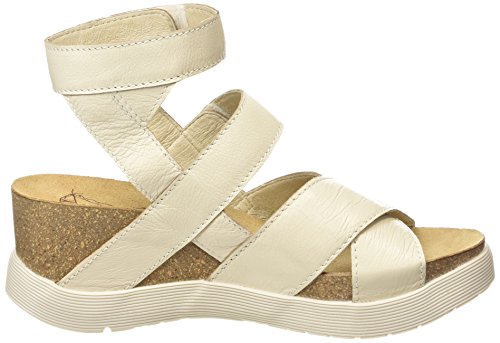London Mousse Women's White Sandal Platform Wege669fly Off Fly 7d5n0qw7