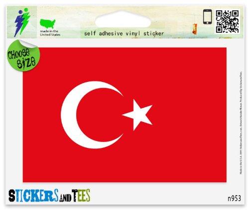 (Turkey Turkish National Flag Vinyl Car Bumper Window Sticker 3