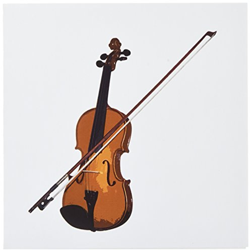 Price comparison product image 3dRose Violin - Greeting Cards, 6 x 6 inches, set of 6 (gc_1269_1)