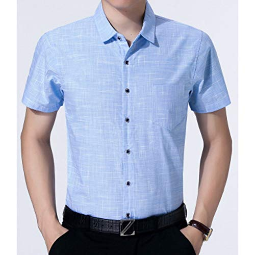 blueee 41 Men's Work Shirt  Solid colord Short Sleeve