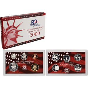 2000 S Silver US Proof Set 10 PC Coin set ()
