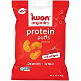 iwon Organics Red Pepper Flavor Protein Puff, High Protein and Organic, 8 Bags,