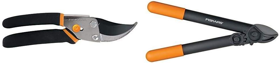 Fiskars Steel Bypass Pruning Shears (91095935J) 15 Inch PowerGear Super Pruner/Lopper