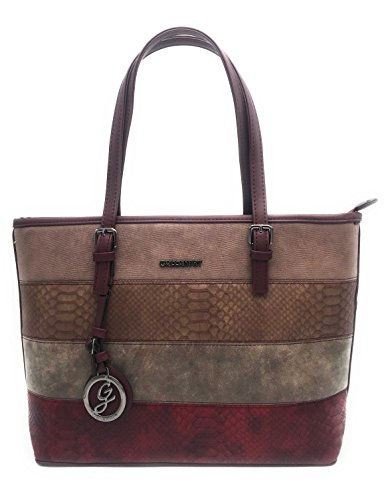 Gallantry sac cours fille - Bolso al hombro para mujer rosa Rose(Rayure serpent) Bordeaux(Rayure serpent)