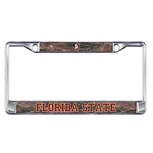 Florida State Seminoles Plate Frame DOMED CAMO FSU PLATE - Frame Camo