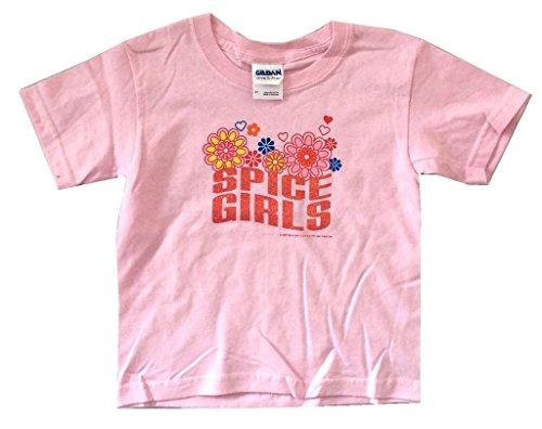 The Spice Girls Flowers Glitter Logo Pink Toddler T Shirt ()