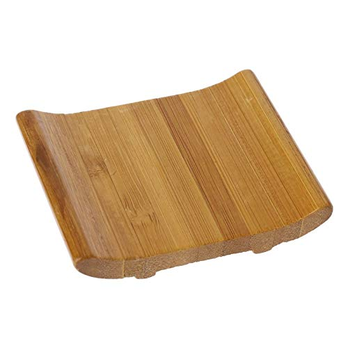 KathShop Hotest Bamboo Soap Storage Holder Natural Wooden Soap Box Travel Soap Rack Plate ()