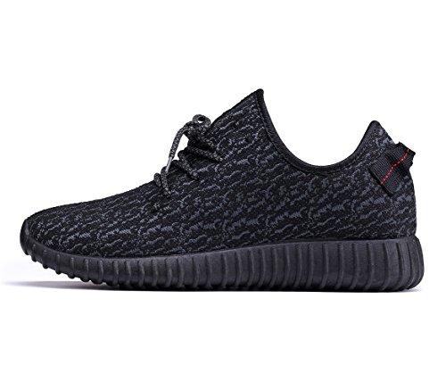 URAQT Zapatillas Suela, Zapatillas de Senderismo de Tela para Hombre,Zapatos Cordones