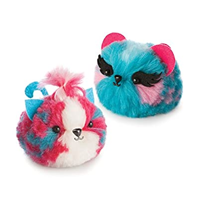 The Orb Factory Fluffables Cherry & Blueberry Double Arts & Crafts, Blue/Pink/White, 11.75