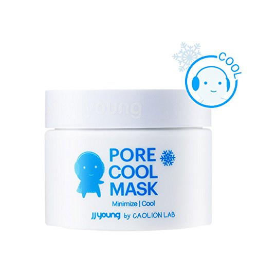 Skin Mask Impurity (JJ YOUNG Pore Cool Mask - Tightens Enlarged Pores, Calms Troubled Skin, Eliminates Impurities and Sebum - 1.76 oz.)