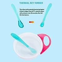 Youlala Cuchara de Silicona para beb/é con Sensor de Temperatura para ni/ños