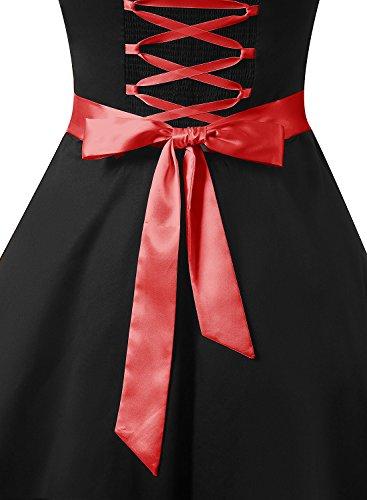 cfcfe95c6 DRESSTELLS Vintage 1950s Rockabilly Polka Dots Audrey Dress Retro Cocktail  Dress