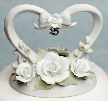 25th Anniversary Heart Cake -