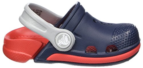 Crocs Kids' Electro III Clog, Navy/Flame, 8 M US Toddler by Crocs (Image #6)