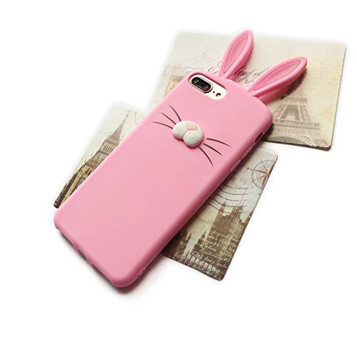 save off 4ac59 9203b Amazon.com: we3Dcell Cute Rabbit Bunny Ears 3D Nose Soft Silicone ...