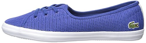 Lacoste Women's Ziane Chunky 217 1 Shoe, Blue, 6 M US