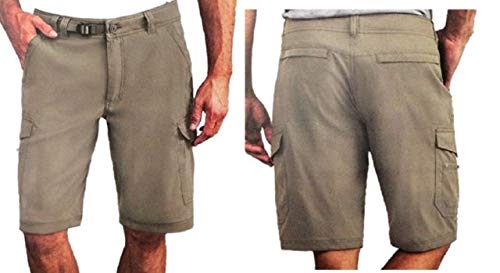 BC Clothing Mens Expedition Stretch Cargo Shorts, Variety (Sand, 32)