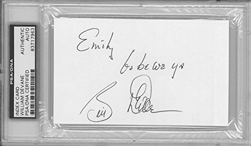 William Devane Signed Autographed 3x5 Index Card Slabbed PSA/DNA #83717963