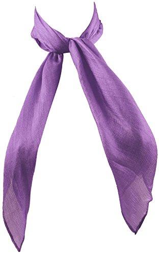 Purple Fashion Accessories (YJDS Women's Fashion Solid Square Neck Scarf Purple)