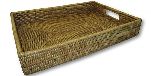 Rattan Honey (Artifacts Trading Company Artifacts Rattan Tray, One Size, Honey Brown)