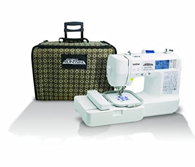 Brother LB6800PRW Project Runway Computerized Embroidery and Sewing Machine with Included Rolling Carrying Case by Brother