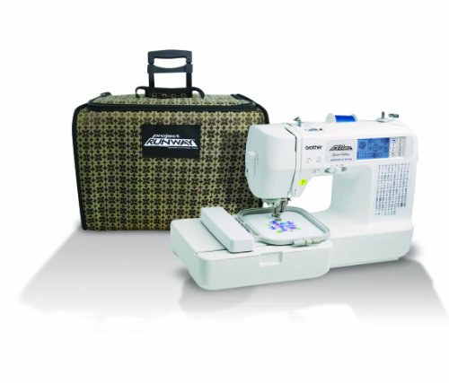 Brother LB6800PRW Project Runway Computerized Embroidery and Sewing Machine with Included Rolling Carrying Case (Case Bobbin Threading)