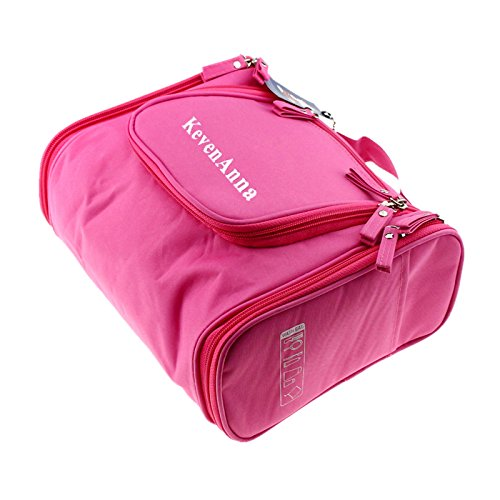 KevenAnna Hanging Men Toiletry Bag Portable Travel Toiletry Bag for Women Hanging Toiletry Kit Organizer for Travel Accessories and Toiletries (Pink)