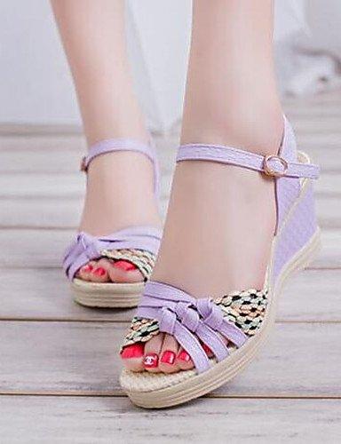 ShangYi Sandaletten für Damen Damenschuhe-Sandalen-Outddor / Kleid / Lässig-Kunstleder-Flacher Absatz-Flip Flops-Schwarz / Grün / Rosa / Weiß , black-us8 / eu39 / uk6 / cn39 , black-us8 / eu39 / uk6 /