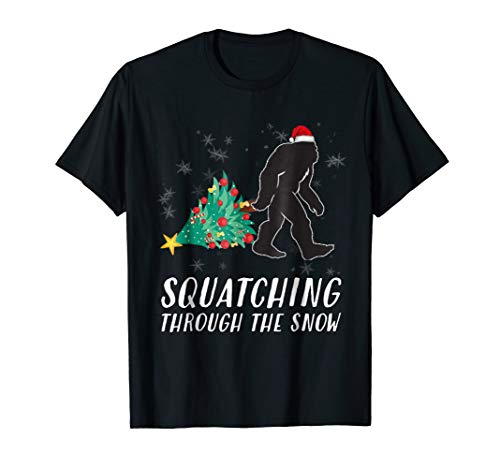 Sasquatch Christmas T-Shirt Funny Bigfoot Costume Xmas Gift -