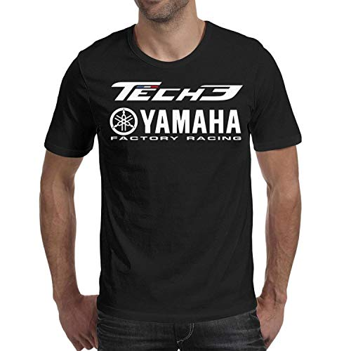 YUIOA Mens Black T-Shirts Tee Cotton Adult TECH-3-YAMAHA-RACING- for sale  Delivered anywhere in USA