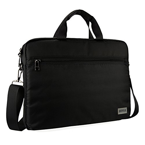 Laptop Bag, Beyle 15.6 inch Laptop Case, Briefcase Messenger Shoulder Bag for Men Women, College Students Business People Office Workers Professional Computer, Notebook, Table, MacBook Bag, Black (Womens Bag Malo)