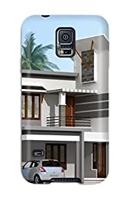 Benailey Galaxy S5 Well-designed Hard Case Cover Architecture Houses Protector