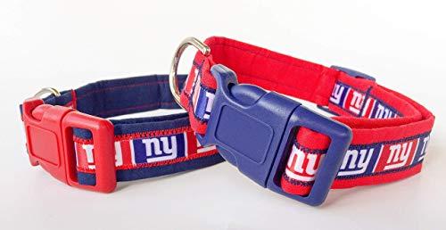 New York Giants NY NFL Dog Collar with Charm Option