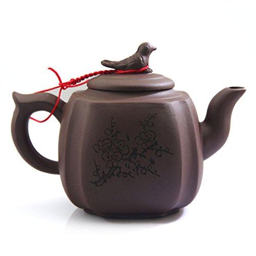 NEW Chinese Rare Yixing Purple clay Pottery Zisha Bird Tea Pot Teapot 350ml FM02
